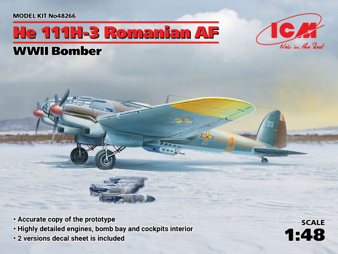 ICM 1/48 48266 He 111H-3 ROMANIAN AF WWII BOMBER