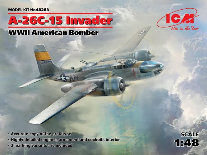 ICM 1/48 48283 A-26C-15 INVADER WWII AMERICAN BOMBER