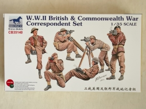 BRONCO 1/35 35140 WWII BRITISH   COMMONWEALTH WAR CORRESPONDENT SET