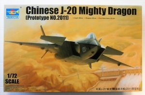 TRUMPETER 1/72 01665 CHINESE J-20 MIGHTY DRAGON  PROTOTYPE No.2011