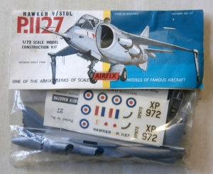 AIRFIX 1/72 113 HAWKER V/STOL P.1127  TYPE II PACKAGING