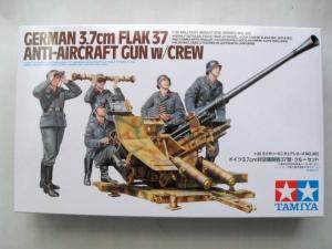 TAMIYA 1/35 35302 3.7cm FLAK 37 ANTI-AIRCRAFT GUN WITH CREW