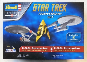 REVELL  05721 STAR TREK ANNIVERSARY SET  UK SALE ONLY