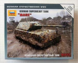 ZVEZDA 1/100 6213 GERMAN SUPERHEAVY TANK MAUS