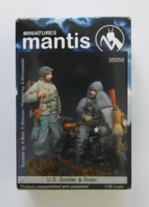 MANTIS MINIATURES 1/35 35058 US SOLDIER AND RIDER