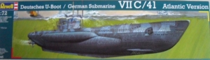 REVELL 1/72 05045 GERMAN SUBMARINE VIIC/41 ATLANTIC VERSION  UK SALE ONLY