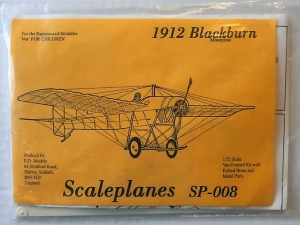 SCALEPLANES 1/72 008 1912 BLACKBURN MONOPLANE