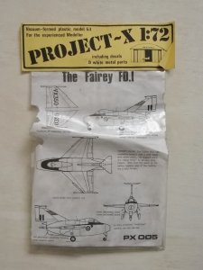 PROJECT X 1/72 FAIREY FD.I