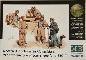 MASTERBOX 1/35 35131 MODERN US TANKMEN IN AFGHANISTAN