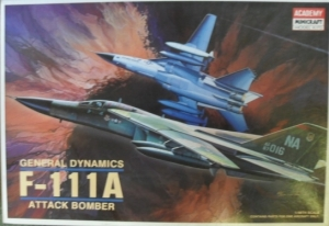 ACADEMY 1/48 1647 GENERAL DYNAMICS F-111A ATTACK BOMBER