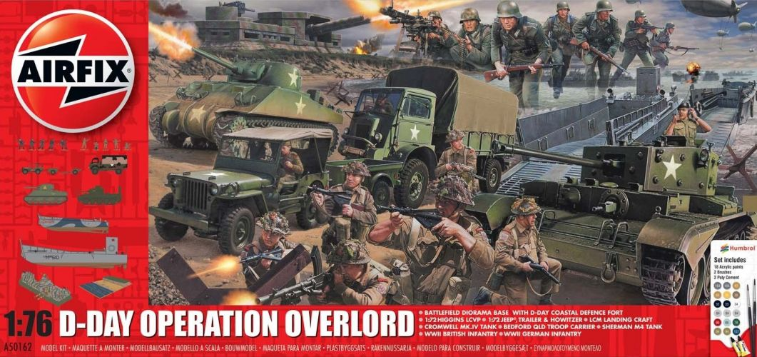 AIRFIX 1/76 50162A D-DAY OPERATION OVERLORD  UK SALE ONLY