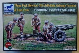 BRONCO 1/35 35173 75mm PACK HOWITZER M1A1  BRITISH AIRBORNE VERSION    GUN CREW