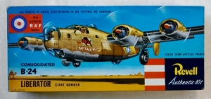 REVELL  H218 CONSOLIDATED B-24 LIBERATOR W/RAF DECALS UK S TYPE BOXING