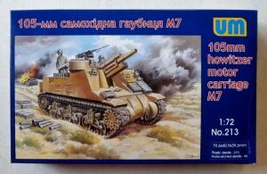 UNIMODEL 1/72 213 105mm HOWITZER MOTOR CARRIAGE M7
