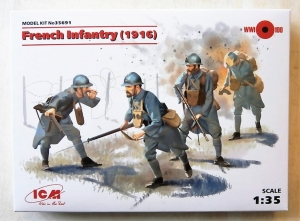 ICM 1/35 35691 FRENCH INFANTRY 1916