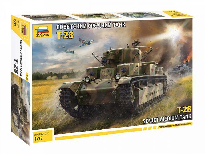 ZVEZDA 1/72 5064 T-28 SOVIET MEDIUM TANK