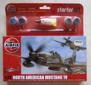 AIRFIX 1/72 55107 NORTH AMERICAN MUSTANG IV STARTER SET
