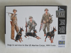 MASTERBOX 1/35 35155 DOGS IN SERVICE IN THE US MARINE CORPS WWII