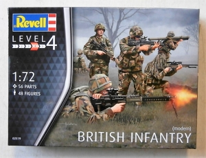 REVELL 1/72 02519 MODERN BRITISH INFANTRY