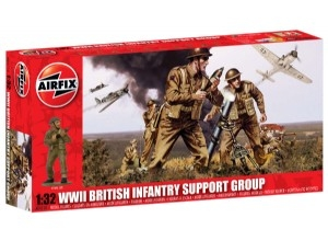 AIRFIX 1/32 04710 WWII BRITISH INFANTRY SUPPORT GROUP