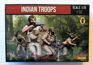 STRELETS 1/72 M119 INDIAN TROOPS WWII
