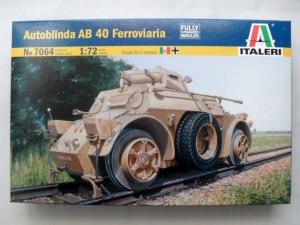 ITALERI 1/72 7064 AUTOBLINDA AB 40 FERROVIARIA