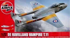 AIRFIX 1/72 02058 DE HAVILLAND VAMPIRE T.11