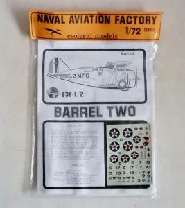 ESOTERIC 1/72 NAF-21 GRUMMAN F3F-1/2 BARREL TWO