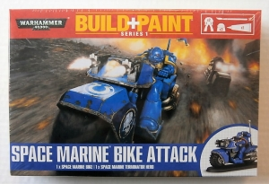 WARHAMMER 40000  SPACE MARINE BIKE ATTACK BUILD   PAINT