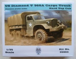MIRROR MODELS 1/35 35803 US DIAMOND T968A CARGO TRUCK HARD TOP CAB