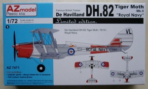 AZ MODEL 1/72 7471 DE HAVILLAND DH.82 TIGER MOTH Mk.II ROYAL NAVY