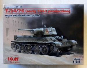 ICM 1/35 35365 T-34/76  EARLY 1943 PRODUCTION
