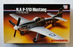 HUMBROL 1/72 72006 N.A. P-51D MUSTANG