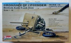 VULCAN 1/35 56001 ORDNANCE QF 2 POUNDER MARK IX CARRIAGE MARK II