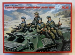 ICM 1/35 35637 SOVIET ARMOURED CARRIER RIDERS 1979 - 1991