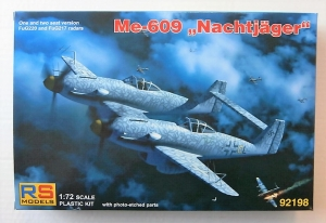 RS MODELS 1/72 92198 Me-609 NACHTJAGER