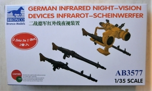 BRONCO 1/35 3577 GERMAN INFRARED NIGHT VISION DEVICES INFRAROT-SCHEINWERFER