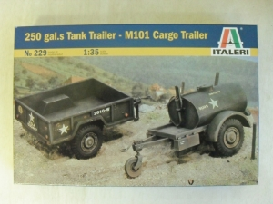 ITALERI 1/35 229 250 GALS TANK TRAILER   CARGO TANK TRAILER