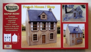 VALIANT MINIATURES 1/72 RR001 FRENCH HOUSE/SHOP