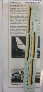 FLIGHTPATH 1/200 1299. 20233 MONARCH OLD COLORS 737-200