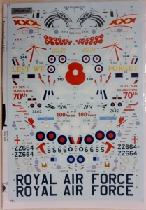 XTRADECAL 1/72 72216 RAF 2014 UPDATE 2013/14