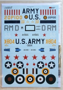 XTRADECAL 1/48 48162 EARLY CURTISS P40s PART1