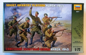 ZVEZDA 1/72 8077 SOVIET INFANTRY PLATOON KURSK 1943