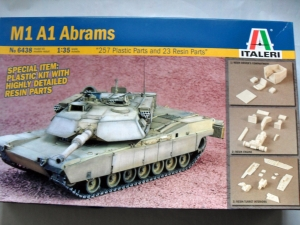 ITALERI 1/35 6438 M1A1 ABRAMS WITH RESIN
