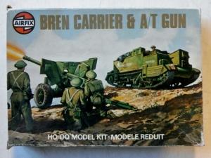 AIRFIX HO/OO 61309 BREN CARRIER   AT GUN
