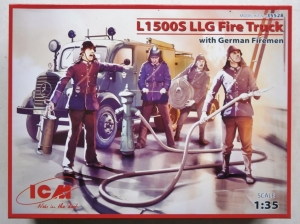 ICM 1/35 35528 L1500S LLG FIRE TRUCK WITH GERMAN FIREMEN