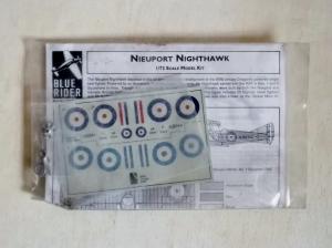 BLUE RIDER 1/72 106 NIEUPORT NIGHTHAWK