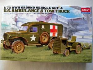 ACADEMY 1/72 13403 US AMBULANCE   TOW TRUCK