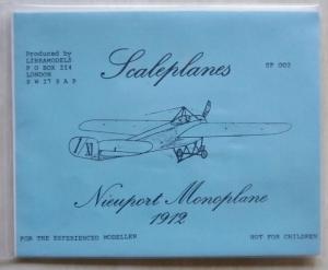 LIBRAMODELS 1/72 002 NIEUPORT MONOPLANE 1912