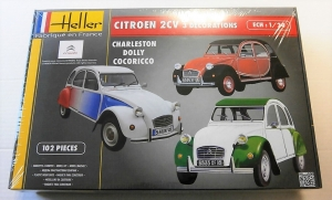 HELLER 1/24 80767 CITROEN 2CV 3 DECORATIONS